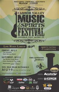 Carbon Valley Music Spirits Festival Poster Final July 2014