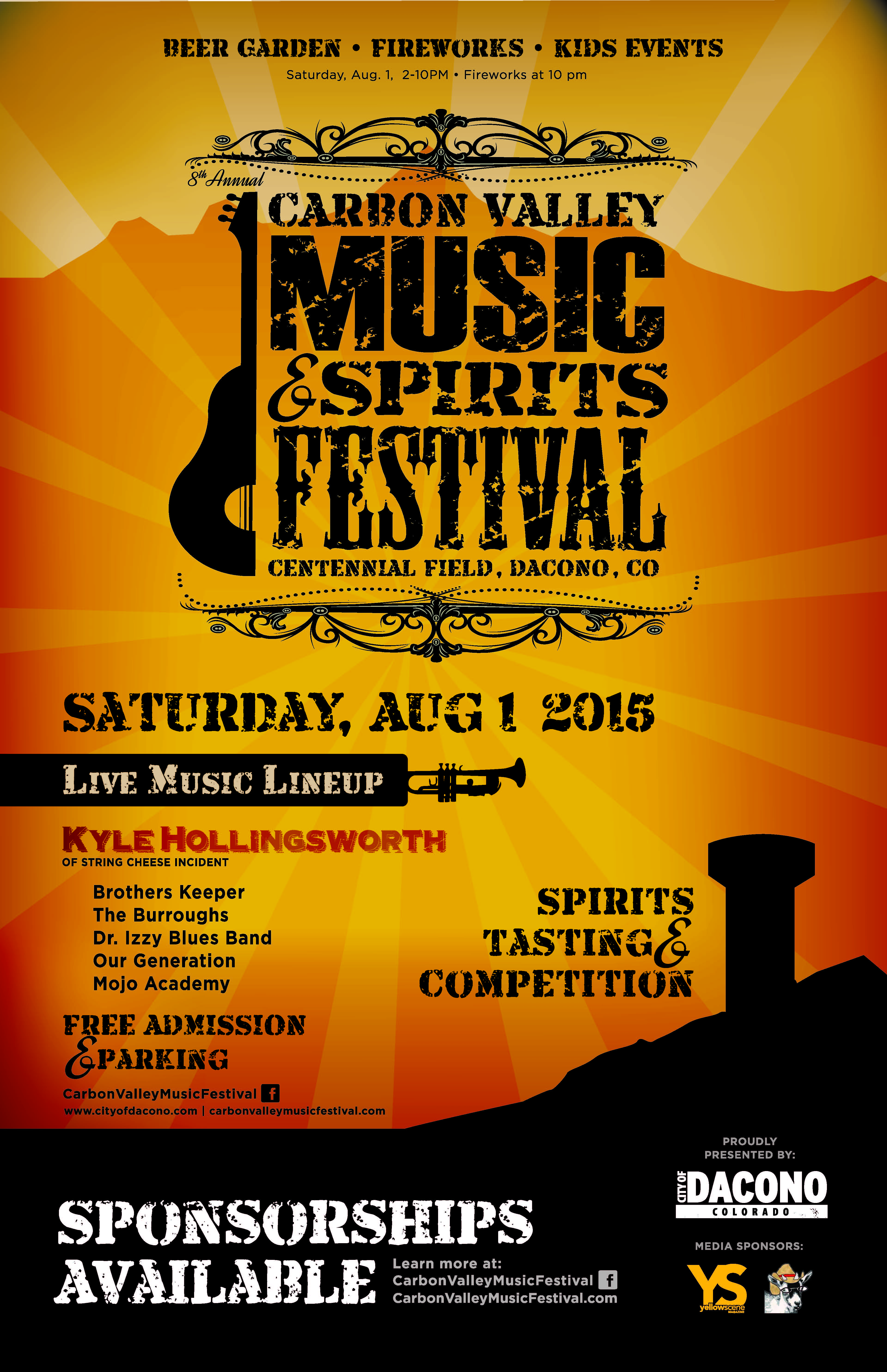 2015 Carbon Valley Music Fest Poster
