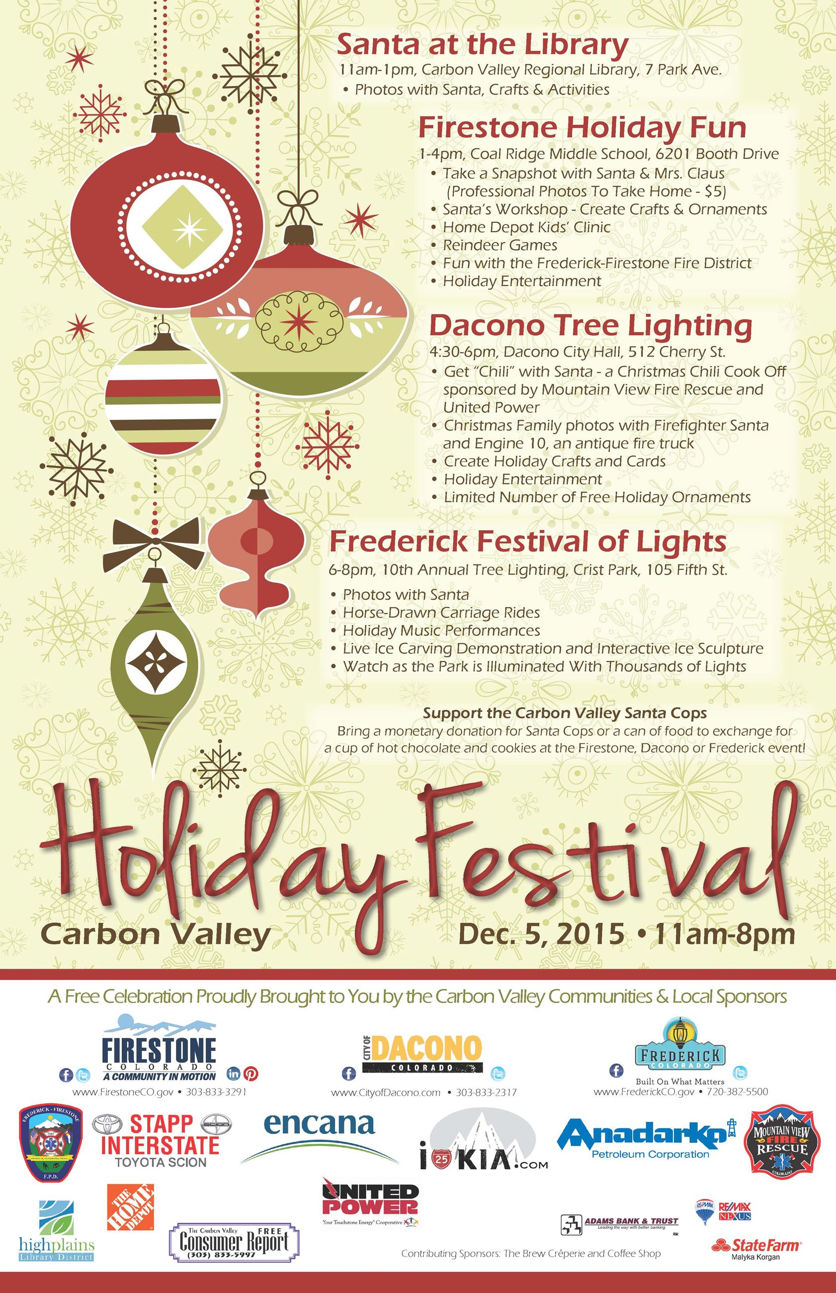 2015 Carbon Valley Holiday Festival poster