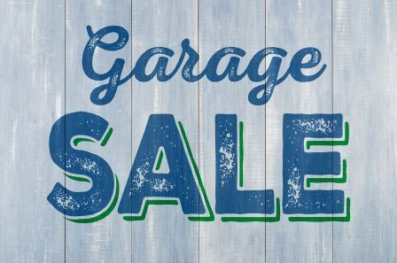 Garage Sale Sign- web site