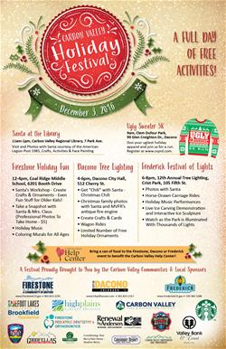 2016 CV Holiday Festival poster- October 2016